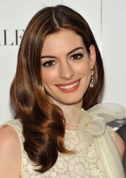 Anne Hathway with lighter longer hair