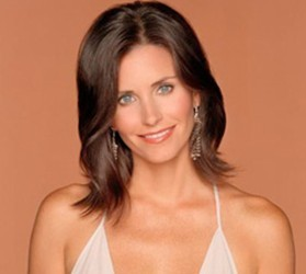 Courtney Cox with lighter shorter hair