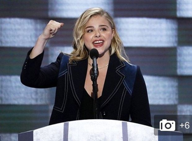 That's what I'm talking about!!!.....Girl Power!!!! @chloegmoretz @hillaryclinton #ImWithHer 🇺🇸 X VB
